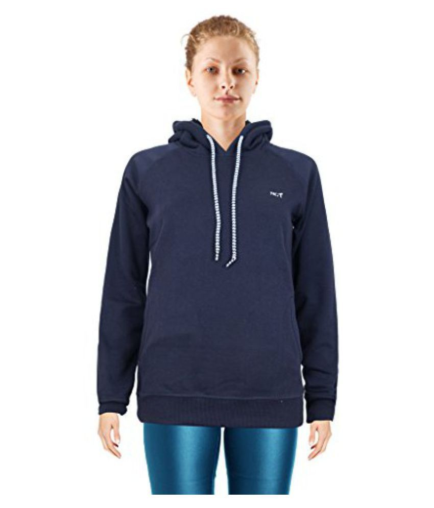 NGT Dark Blue Color Hooded Sweatshirt For Women in High Quality.