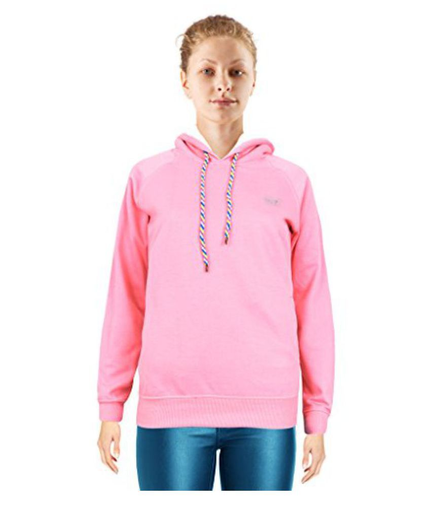 NGT Pink Color Hooded Sweatshirt For Women in High Quality.
