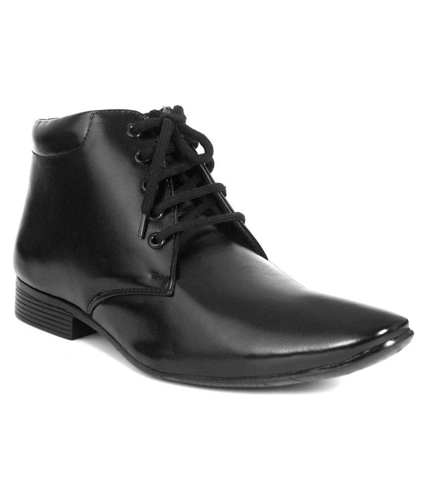 World Walker Black Formal Boot
