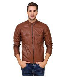 Urbano Fashion Brown Leather Jacket
