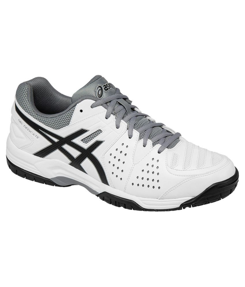 best service 2efce 3cc92 Asics Gel Dedicate 4 White Male Non-Marking Shoes - Buy Asics Gel Dedicate 4  White Male Non-Marking Shoes Online at Best Prices in India on Snapdeal