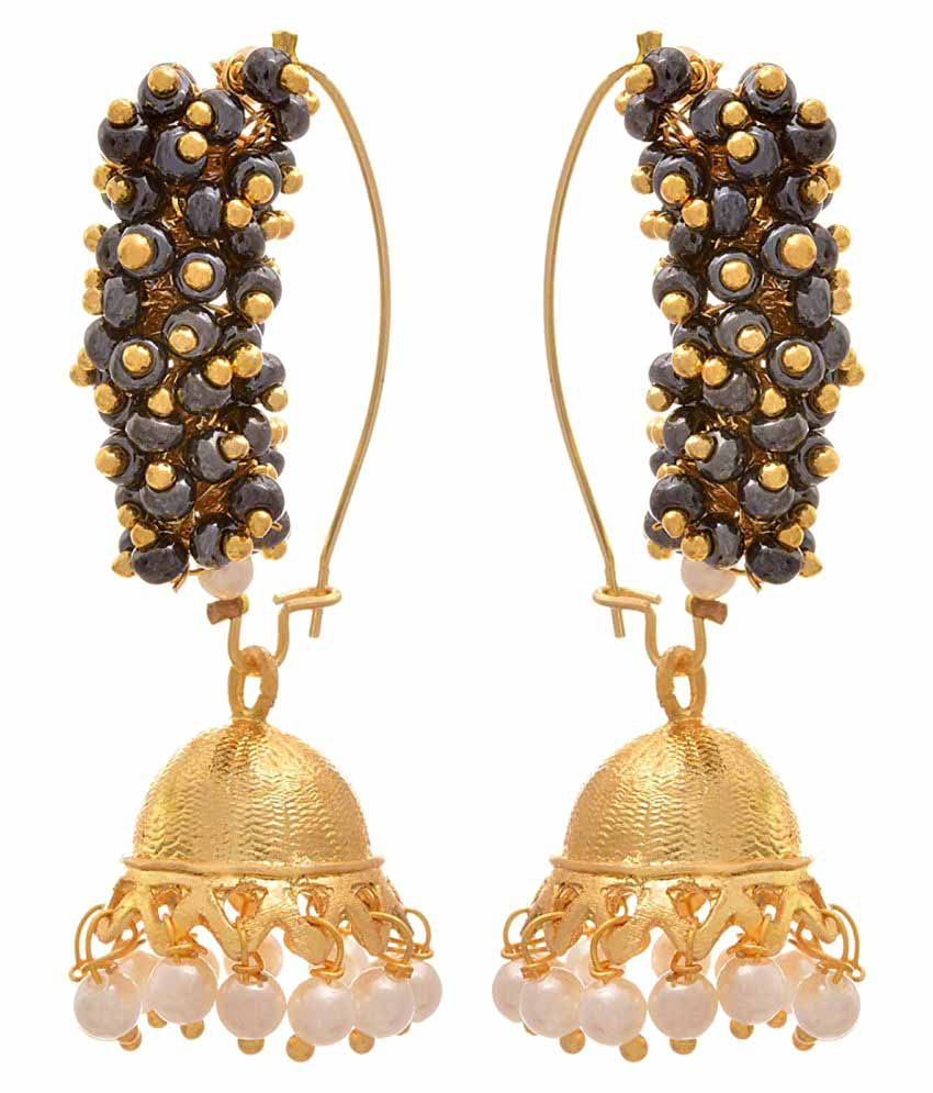 JFL - Jewellery For Less Multicolour Jhumki Earring for Women