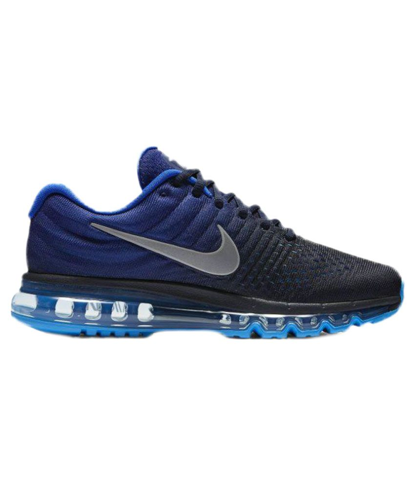 new arrival 960a6 a76a3 Nike Air Max 2017 Blue Running Shoes - Buy Nike Air Max 2017 Blue Running  Shoes Online at Best Prices in India on Snapdeal