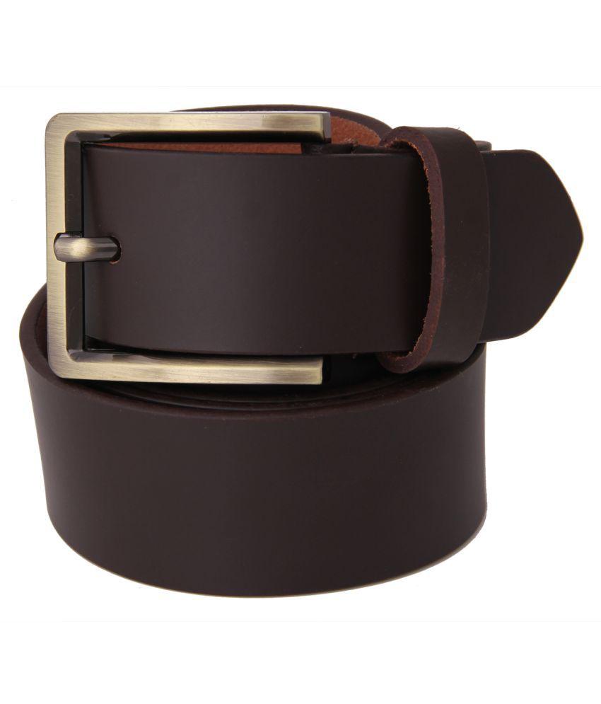 Fifbi Brown Leather Combo Belt