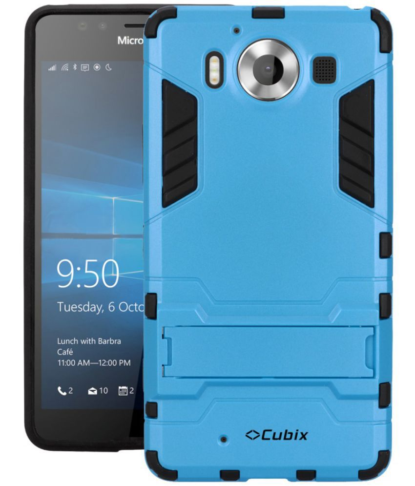 Microsoft Lumia 950 Cases with Stands CUBIX - Blue