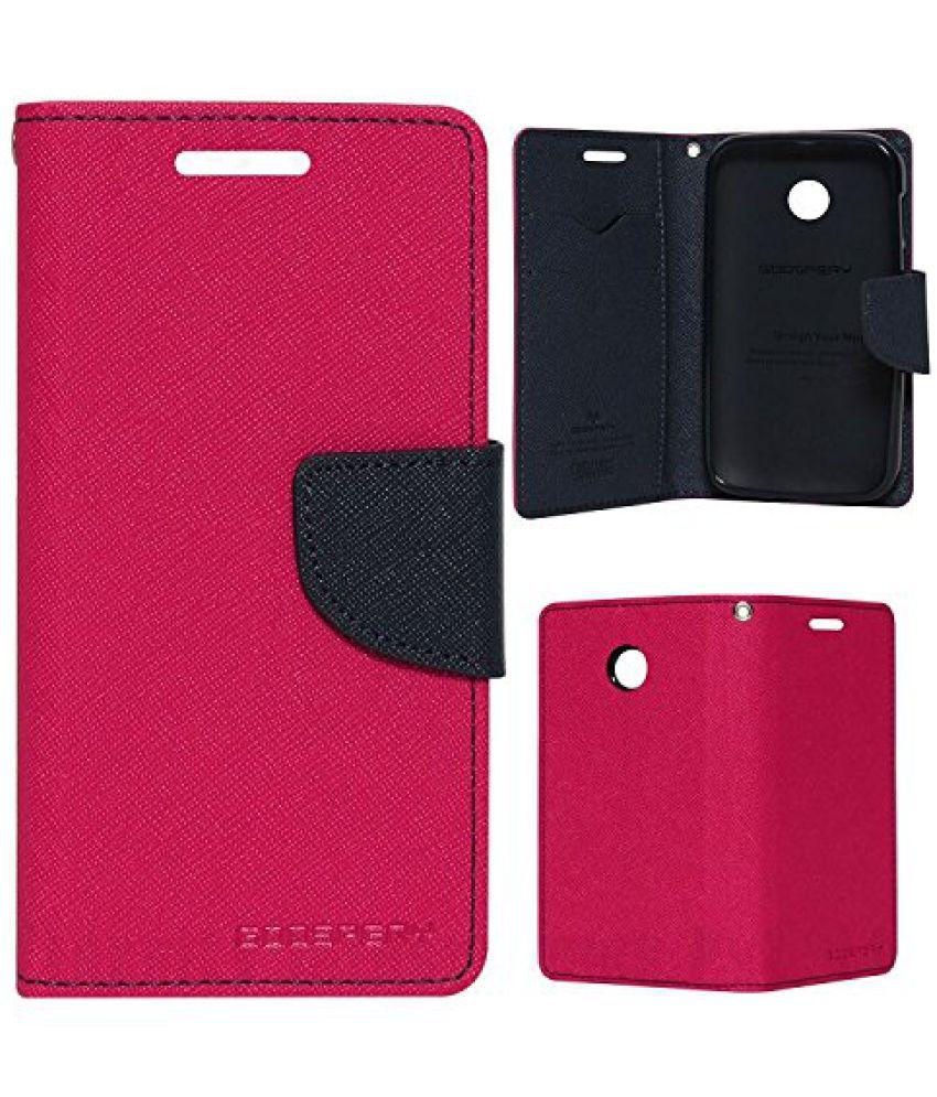 Samsung Galaxy A3 (2016) Flip Cover by Goospery - Pink