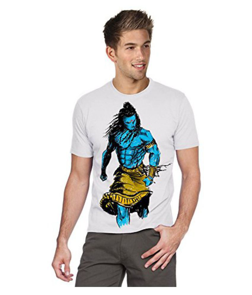395d2f1ca7 Angry shiva - Graphic Printed Creative Men's White Cotton T-Shirt ...