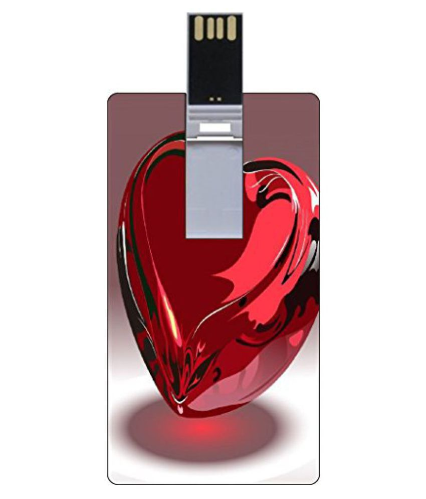 Go Hooked 8GB Printed Credit card Shape Pendrive
