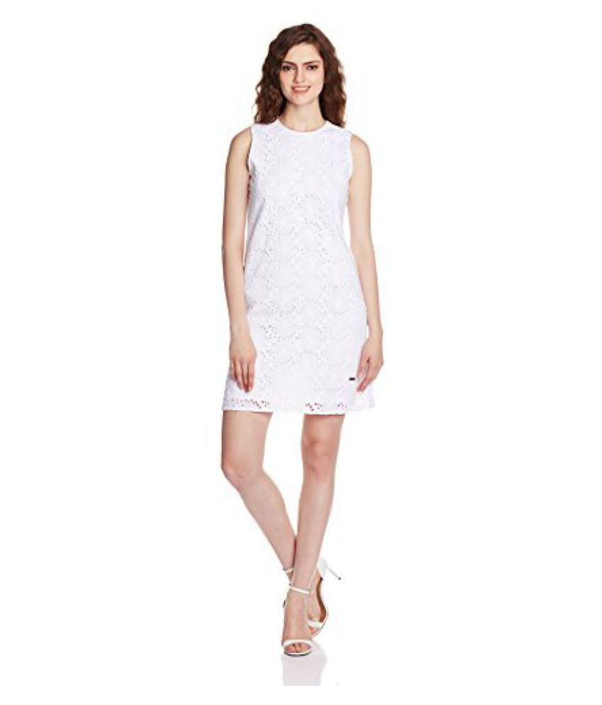 Pepe Jeans Women's Cotton A-Line Dress