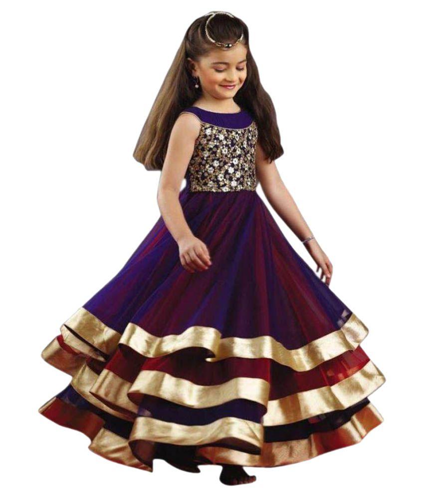 ca43c9069c Madhuram Textiles Purple Gown - Buy Madhuram Textiles Purple Gown Online at Low  Price - Snapdeal