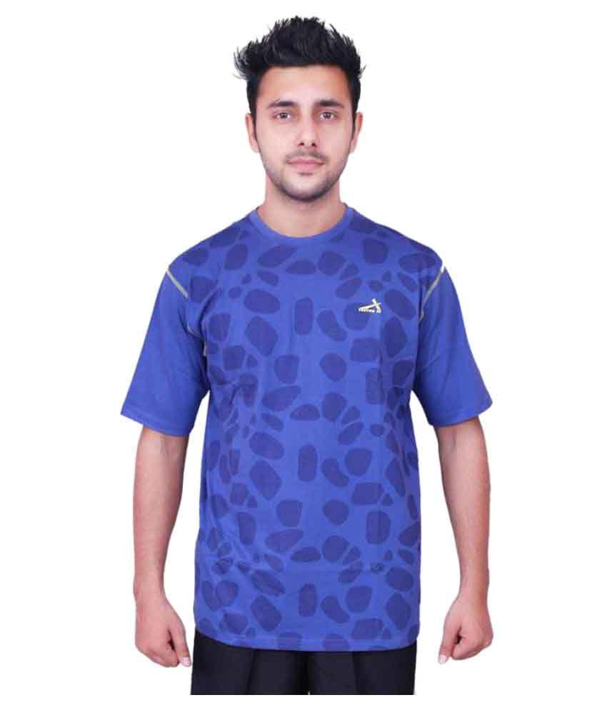 Vector X Printed VCC-004-A Men's Round Neck Blue T-Shirt