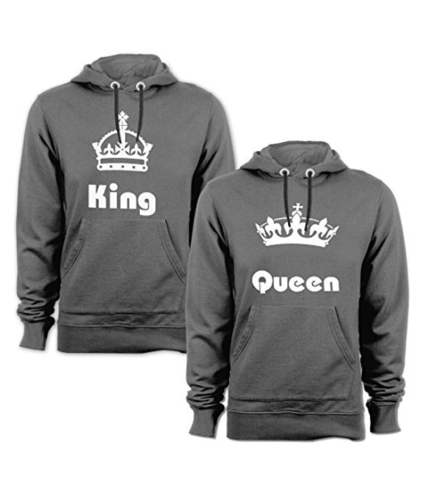 Buy Anniversary Gifts Wedding Gifts Love Gifts Gifts For Couples King Queen Drifit Regular Fit Round Neck Sweatshirt For Couple Set Of 2 Online At Best Prices In India Snapdeal