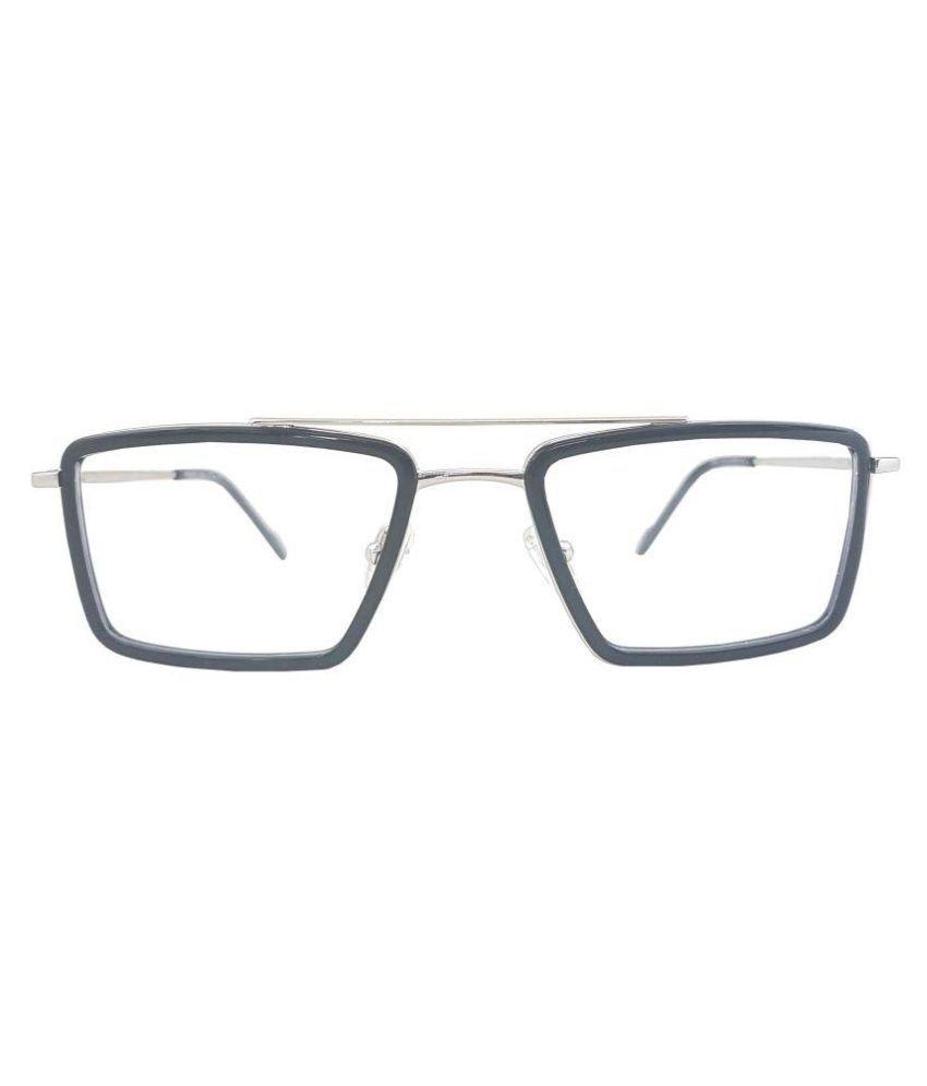 Odyssey Silver Square Spectacle Frame prada-raees-f-blk-slvr-52 ...