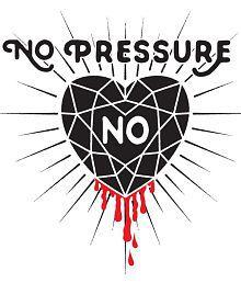 Pitaara Box No Pressure No Diamond PVC Vinyl Multicolour Wall Stickers