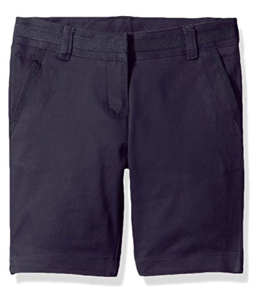 Nautica Plus Girls' Uniform Bermuda Short, Navy, 14