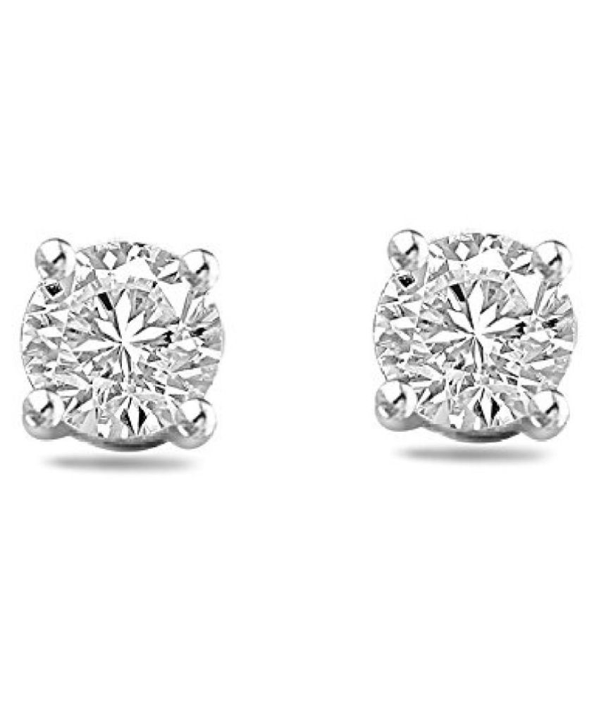 Sparkles 18K 2 Colour Gold and Diamond Stud Earrings