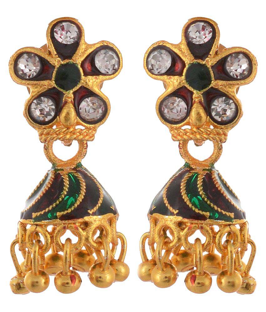 Handicraft Kottage 22k Gold Jhumki