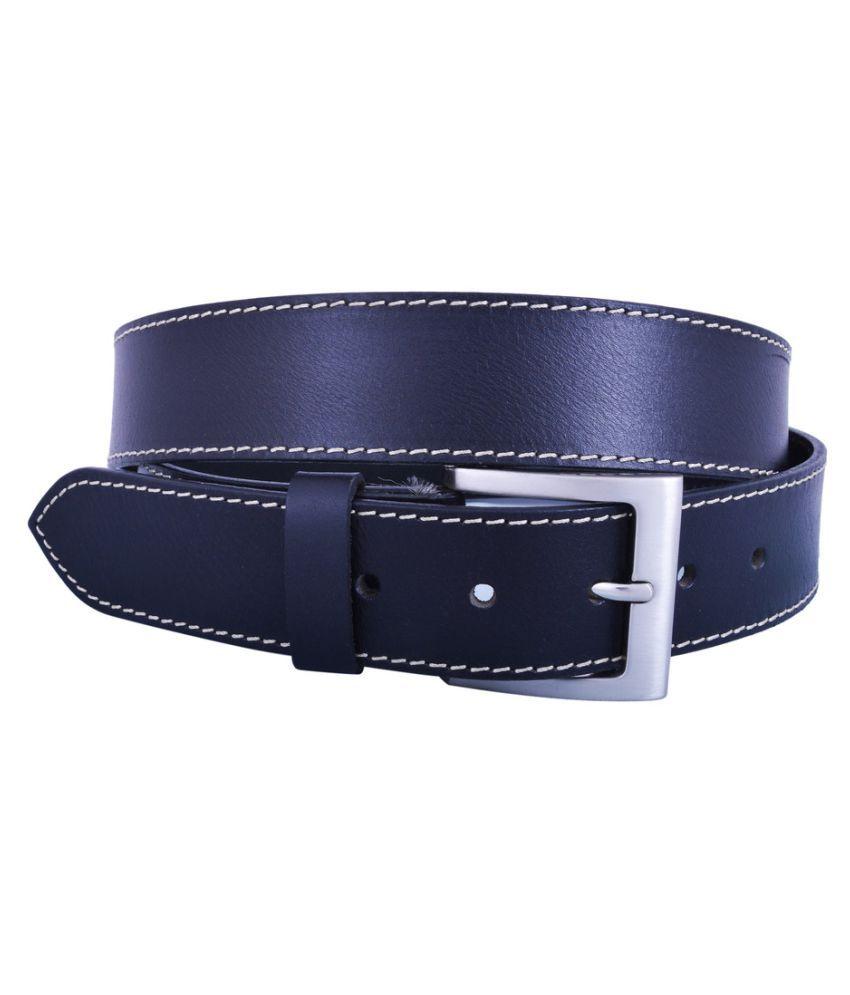 Dreamship Blue Leather Casual Belts