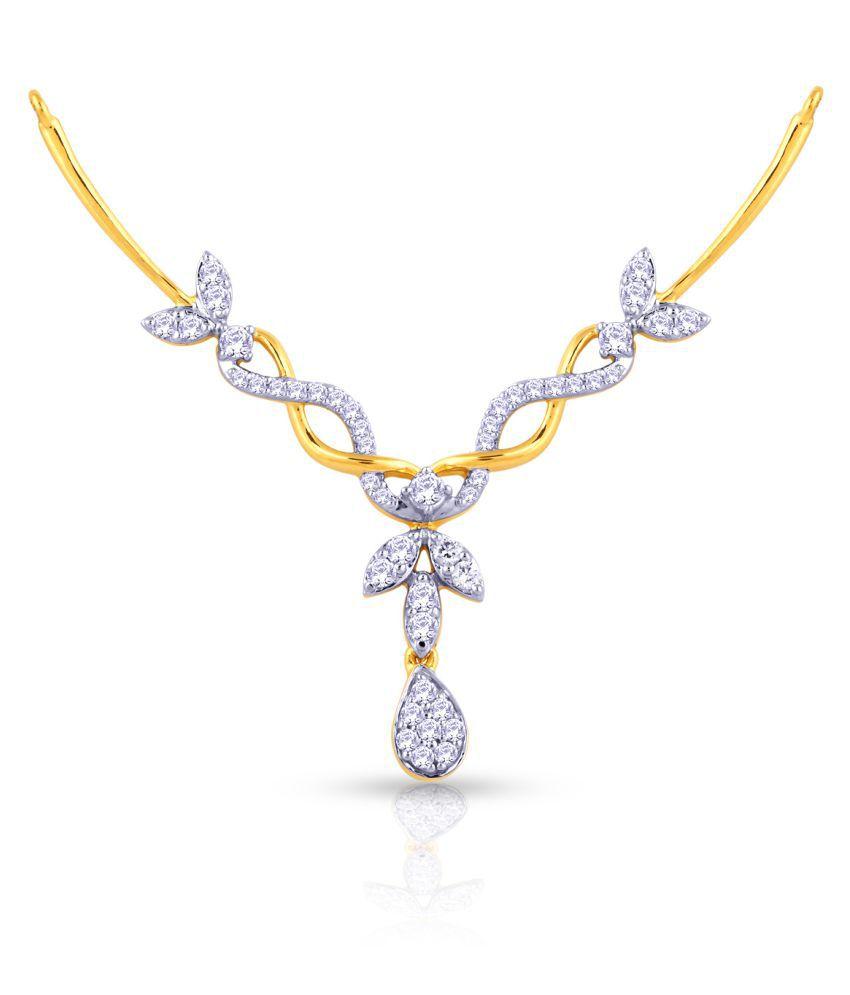 Malabar Gold and Diamonds 22k Gold Diamond Mangalsutra