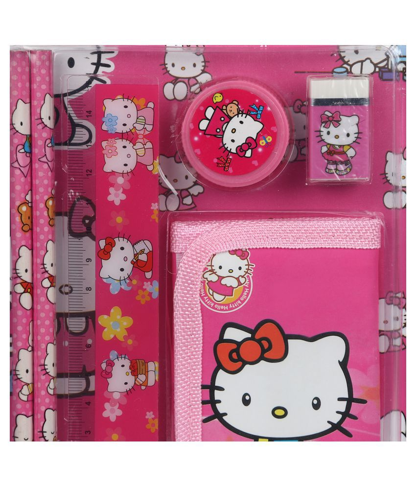 asera pink hello kitty pencil box set pack of 12 buy online at best rh snapdeal com