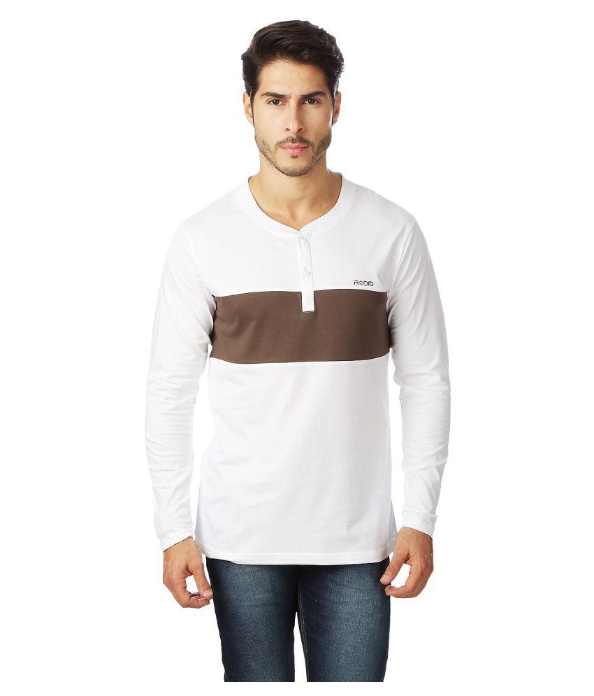 Rodid White Henley T-Shirt