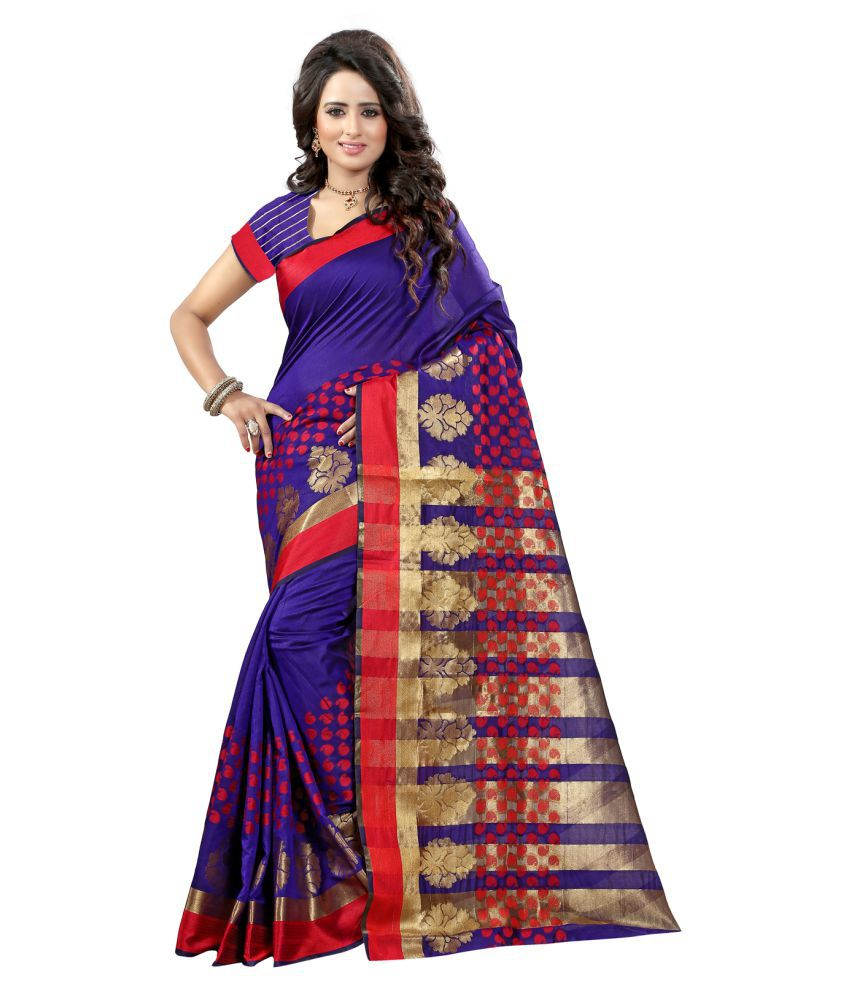 Fashion Storey Blue Tussar Silk Saree