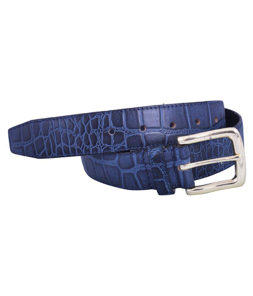 Dreamship Blue Leather Party Belts