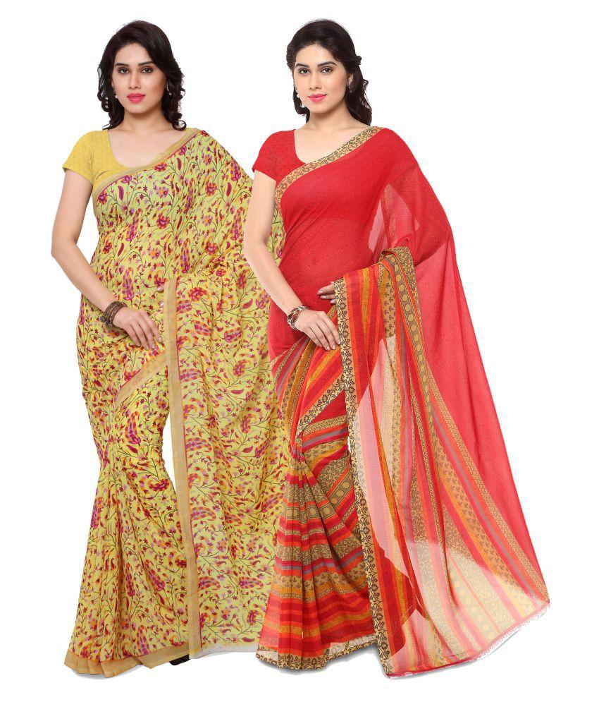 Rajnandini Multicoloured Georgette Saree Combos