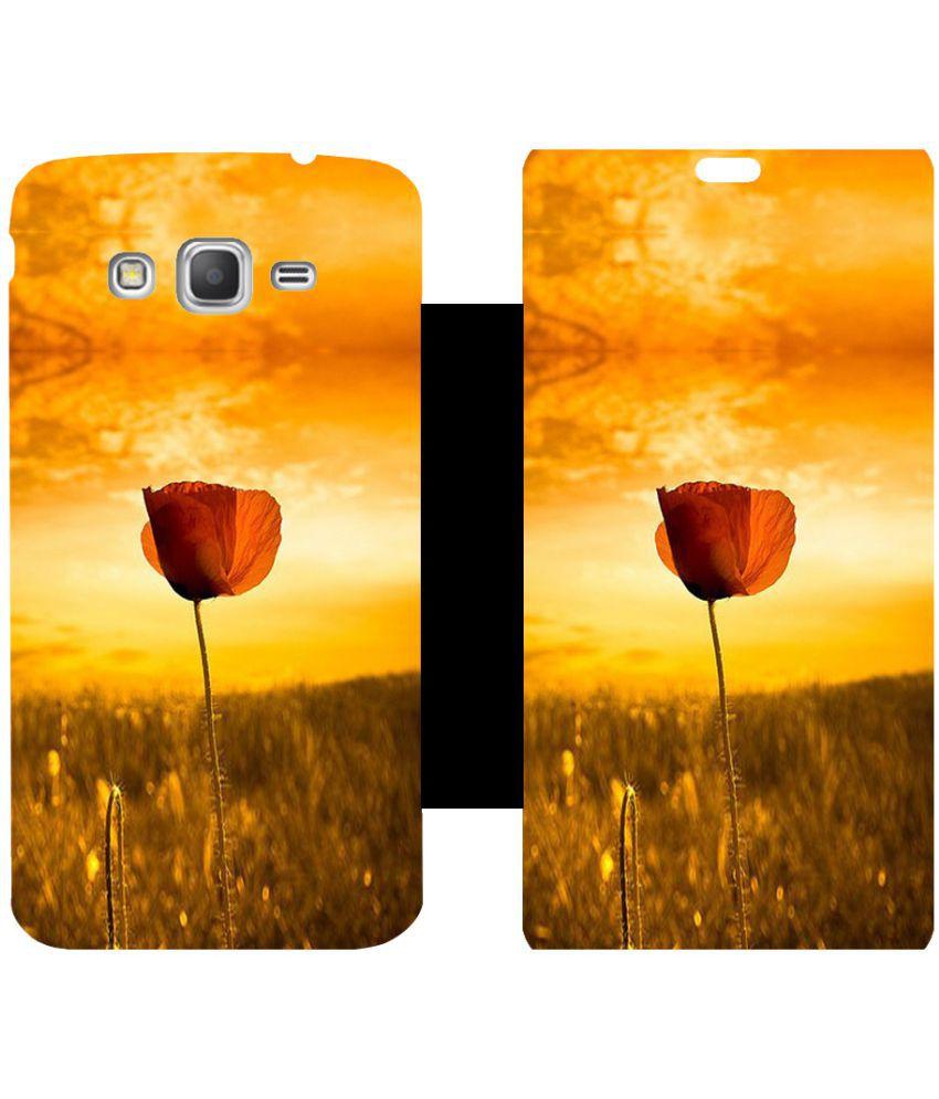 Samsung Galaxy Grand Prime Flip Cover by Skintice - Multi
