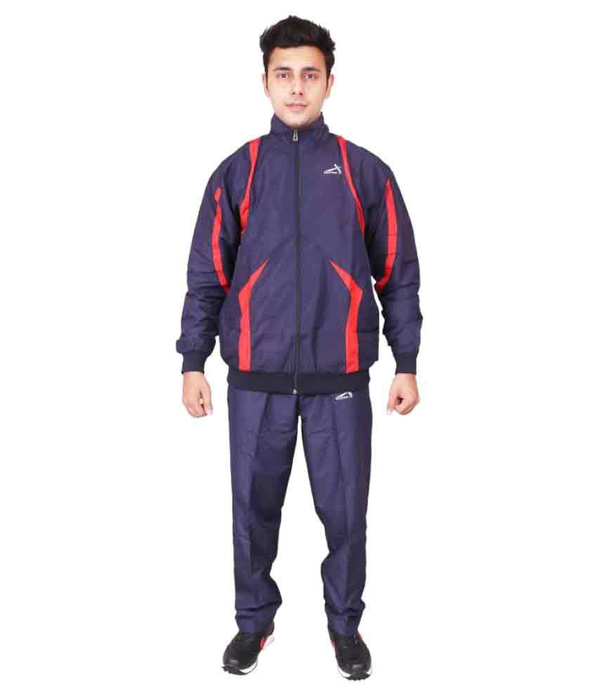 Vector X VTS-500-B Blue Solid Men's Track Suit