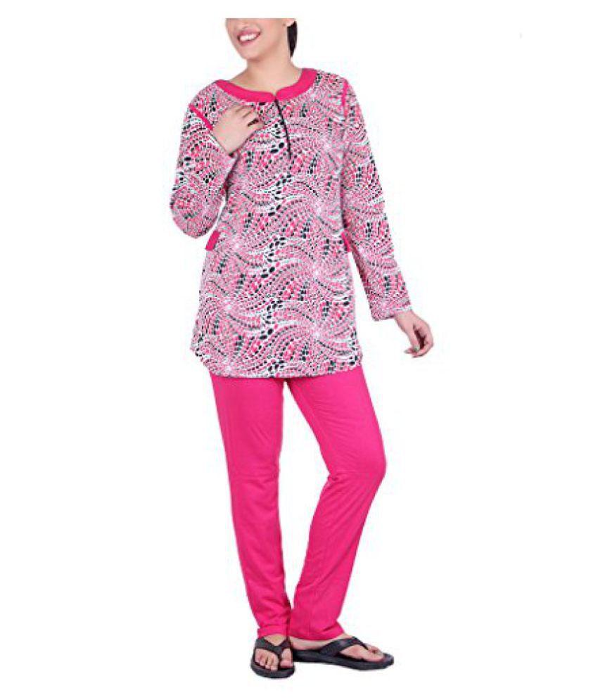 Vivid Bharti Cotton Full Sleeve Night Set