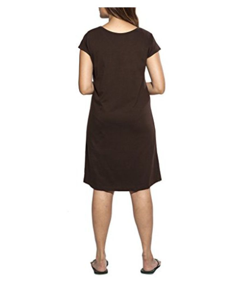 7f3a0c499e76 Buy Clifton Women s Long Top Nightwear-Humming Bird -Dark Chocolate Online  at Best Prices in India - Snapdeal