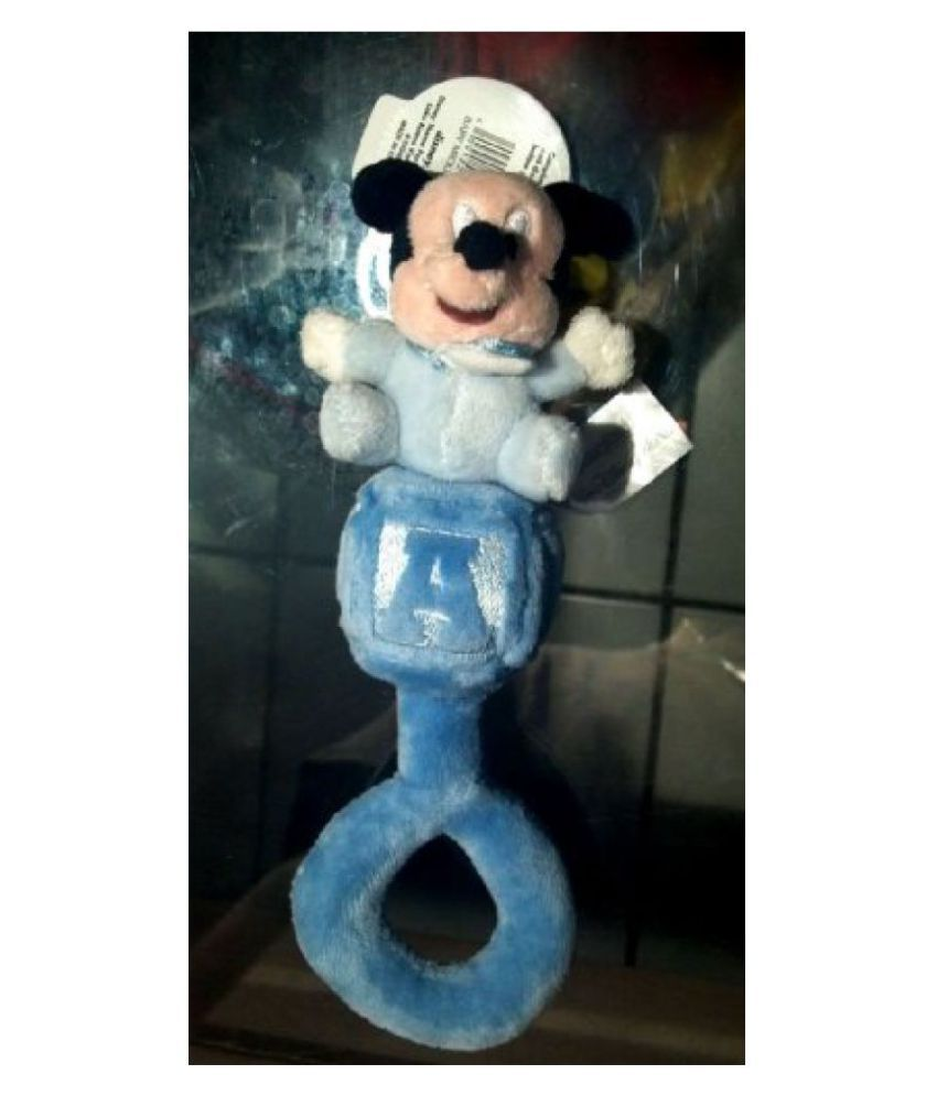 Disney Parks Exclusive Baby First Mickey Mouse Blue Rattle