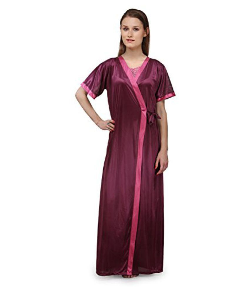 338312da3f Buy Fashigo Women s 2 Piece Satin Nighty (Free Size) Online at Best Prices  in India - Snapdeal