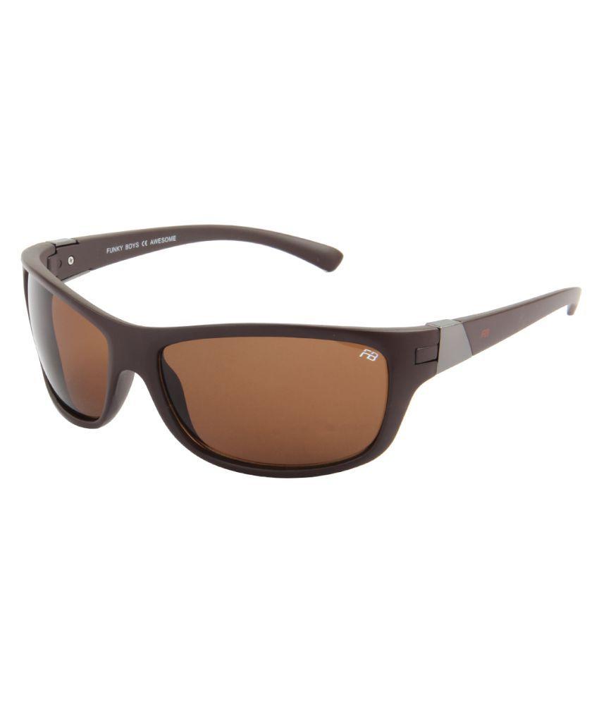 Funky Boys Grey Wrap Around Sunglasses ( FB-3100-C3 )