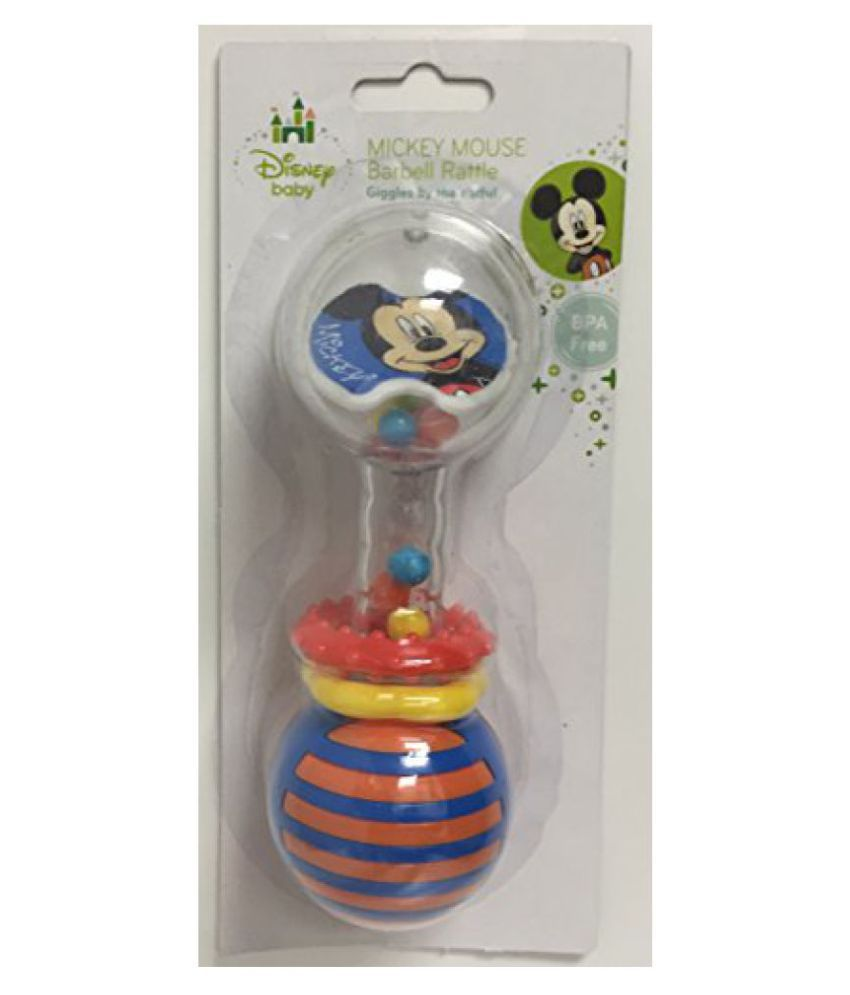Mickey Mouse Barbell Rattle