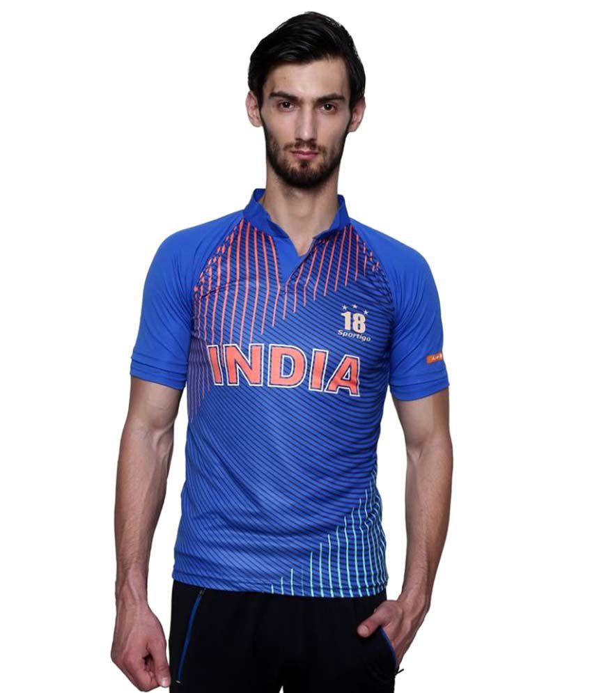Sportigo Replica Number 18 India T20 Cricket Jersey-2016/17