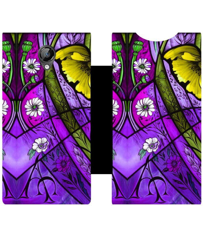 Micromax Bolt D320 Flip Cover by Skintice - Purple