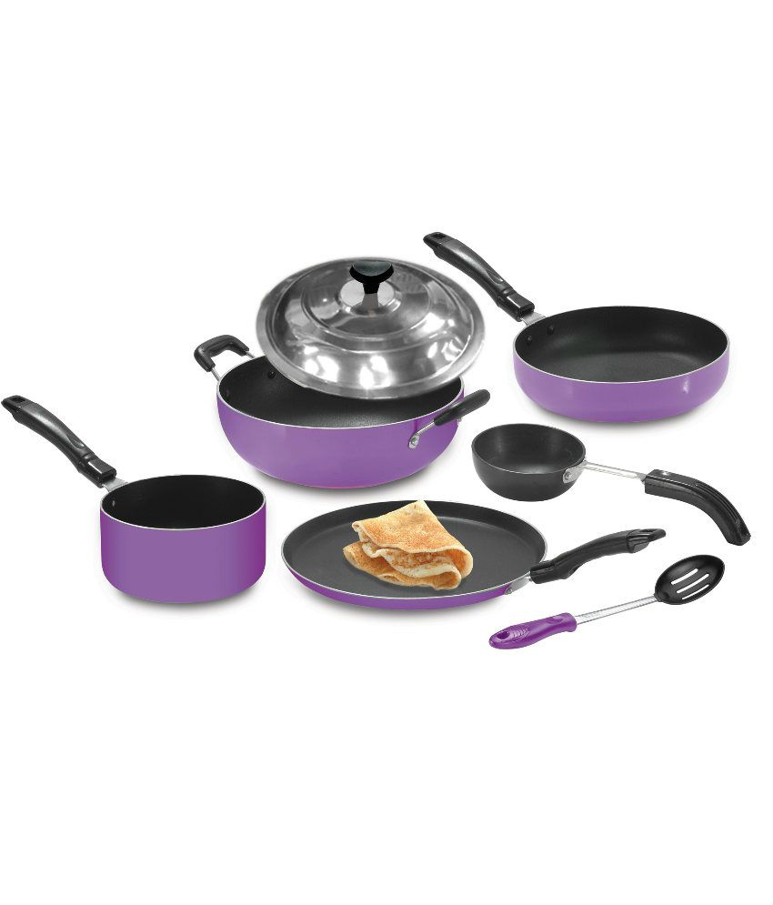 Crystal Non-Stick Crystal Non-Stick Cookware Set of 7 Pcs Cookware Set 7 Cookware Sets