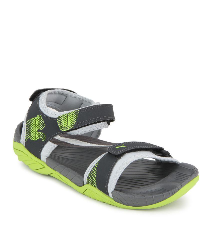 Puma Elego IDP Gray Floater Sandals