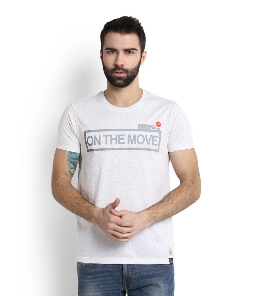 Lee White Round T-Shirt