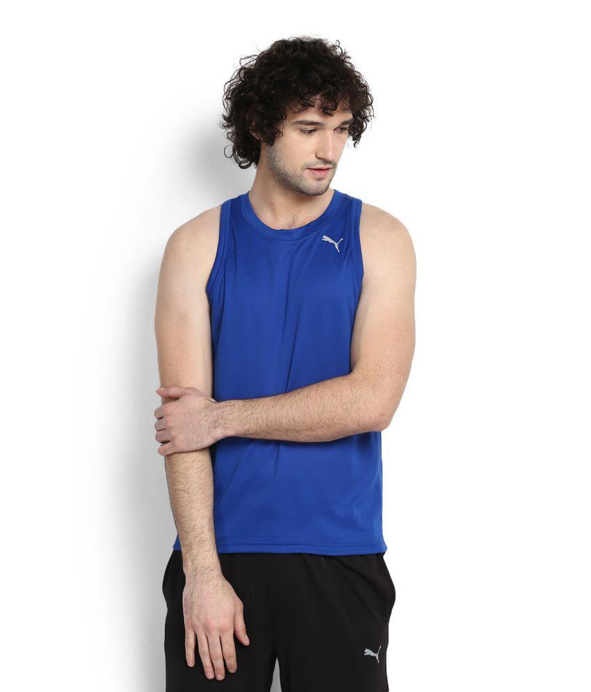 Puma Blue Round T-Shirt