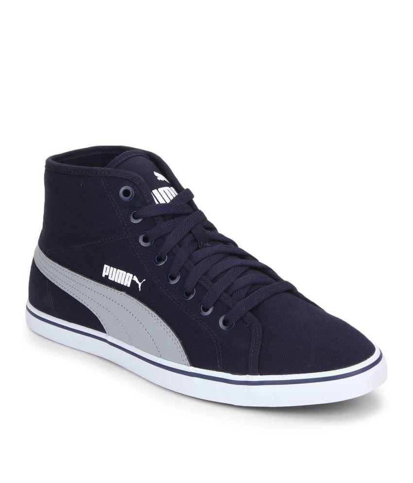 puma elsu v2 mid cv idp navy casual shoes