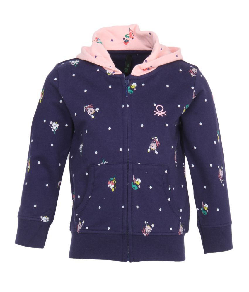 United Colors Of Benetton Blue Girls Sweatshirts