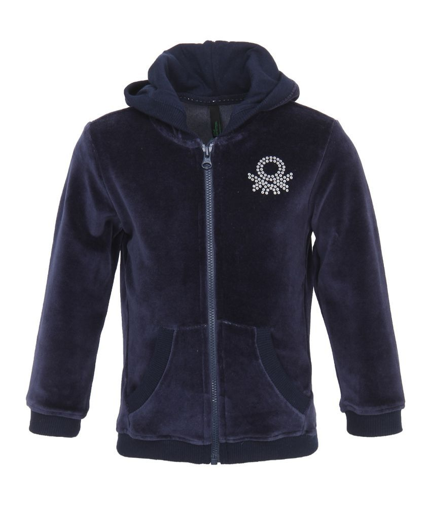 United Colors Of Benetton Navy Girls Sweatshirt