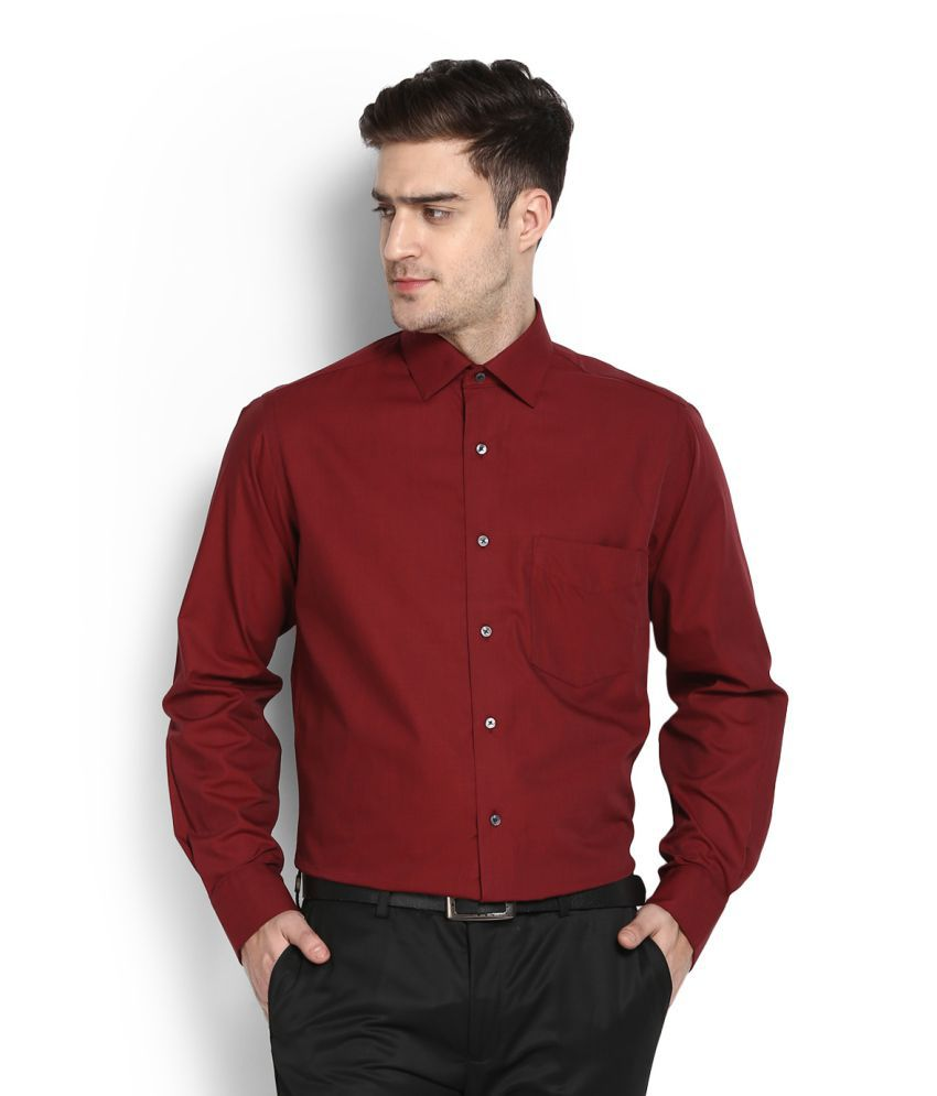 4778dee80ca Van Heusen Maroon Formal Slim Fit Shirt - Buy Van Heusen Maroon Formal Slim  Fit Shirt Online at Best Prices in India on Snapdeal