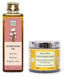 Auravedic Kumkumadi Oil And Skin Lightening Treatment Face Mask Masks 200 Gm Pack Of 2