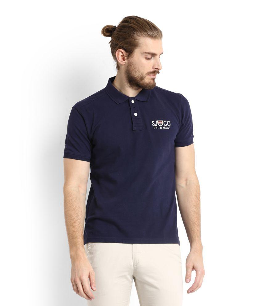 Allen Solly Blue High Neck T-Shirt