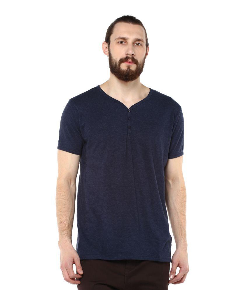 Fox Blue V-Neck T-Shirt