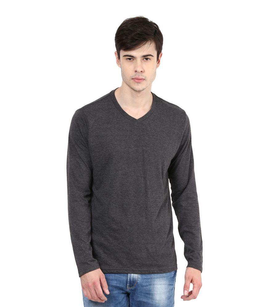 Fox Grey V-Neck T-Shirt
